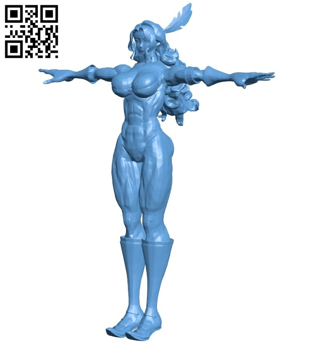Miss muscular amazon B008139 file stl free download 3D Model for CNC and 3d printer