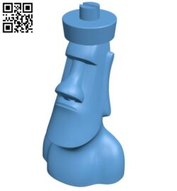 Moai chess – moai bishop B008151 file stl free download 3D Model for CNC and 3d printer