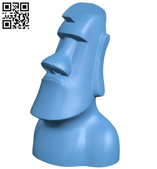 Moai chess - moai knight B008153 file stl free download 3D Model for CNC and 3d printer