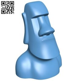 Moai chess – moai pawn B008154 file stl free download 3D Model for CNC and 3d printer