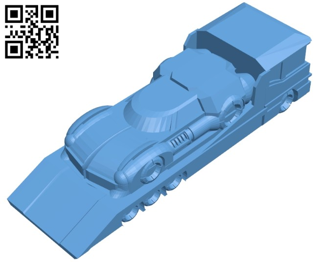 Modern truck B008285 file stl free download 3D Model for CNC and 3d printer