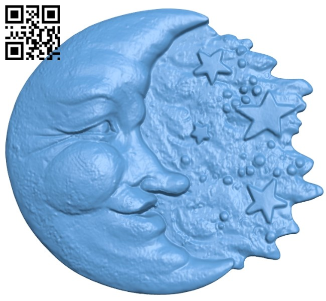 Moon painting A005428 download free stl files 3d model for CNC wood carving