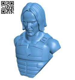 Mr Keanu bust B008164 file stl free download 3D Model for CNC and 3d printer
