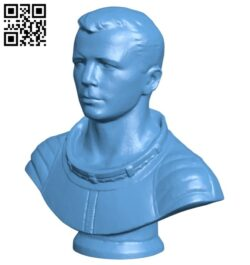 Mr Yuri Gagarin bust B008230 file stl free download 3D Model for CNC and 3d printer