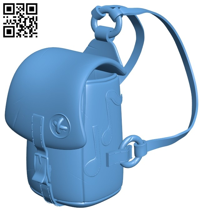 Musician backpack handbag B008142 file stl free download 3D Model for CNC and 3d printer