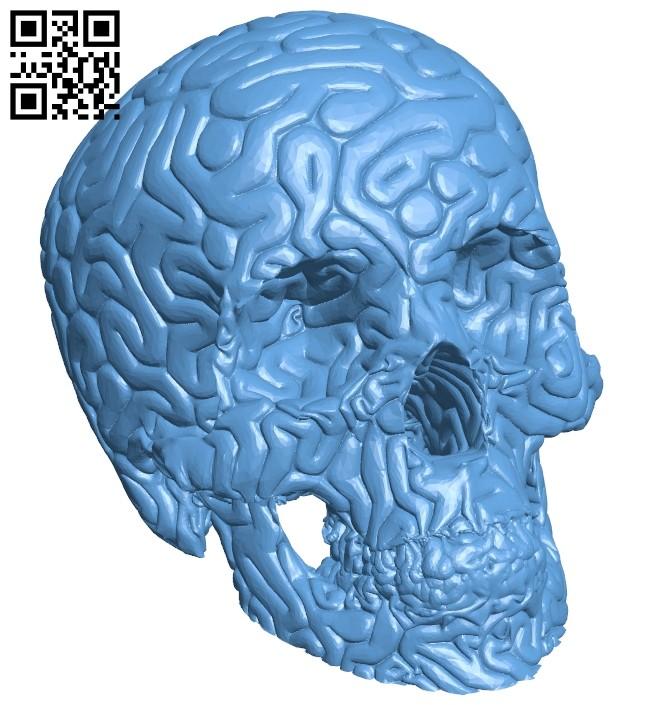 No brainer - skull B008174 file stl free download 3D Model for CNC and 3d printer