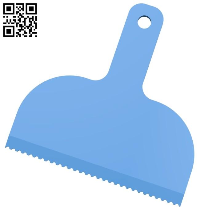 Notched spreader B008084 file stl free download 3D Model for CNC and 3d printer
