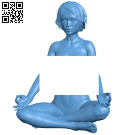 Nude yoga – women B008177 file stl free download 3D Model for CNC and 3d printer