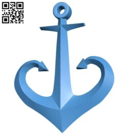 Odessa anchor pendant B008086 file stl free download 3D Model for CNC and 3d printer