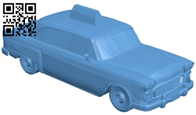 Old Taxi - car B008320 file stl free download 3D Model for CNC and 3d printer