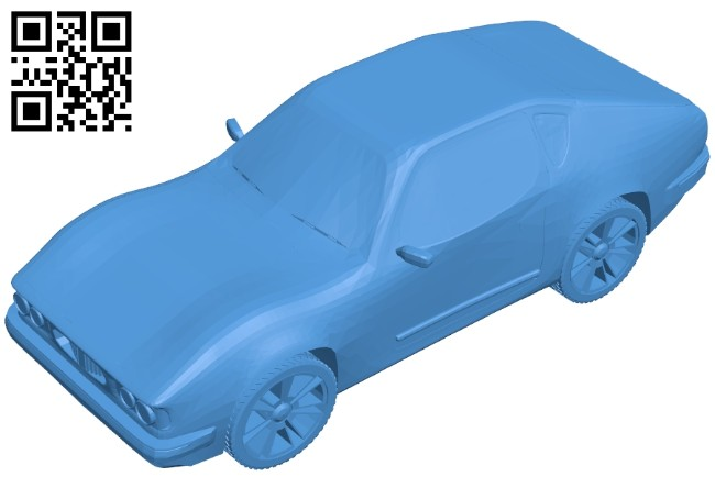 Old sport car B008127 file stl free download 3D Model for CNC and 3d printer