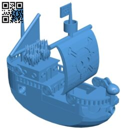 One piece pirate ship B008049 file stl free download 3D Model for CNC and 3d printer