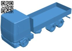 Open body truck B008058 file stl free download 3D Model for CNC and 3d printer