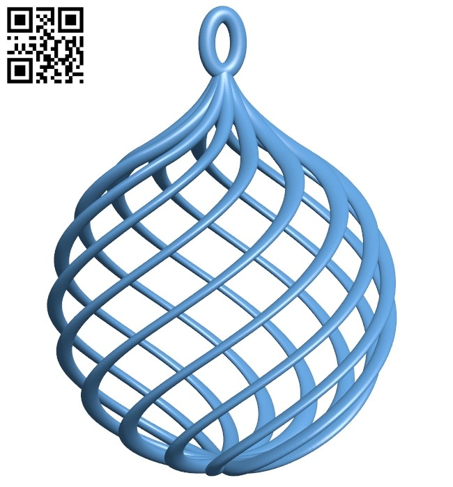 Orb - boule noel B008190 file stl free download 3D Model for CNC and 3d printer