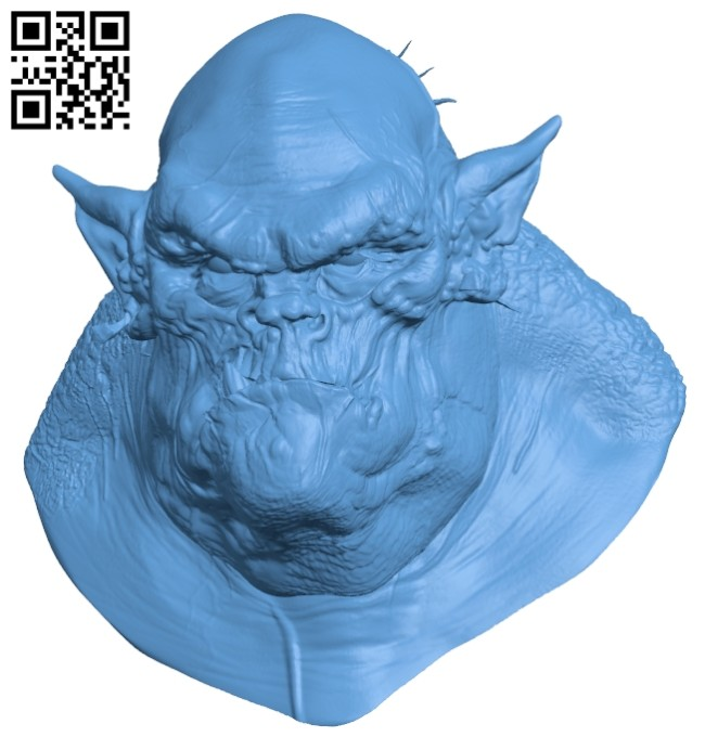 Orco bust B008141 file stl free download 3D Model for CNC and 3d printer