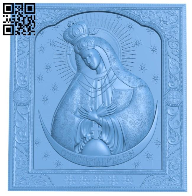 Ostrobramska Icon A005398 download free stl files 3d model for CNC wood carving