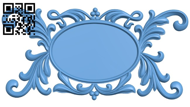 Oval frame A005332 download free stl files 3d model for CNC wood carving