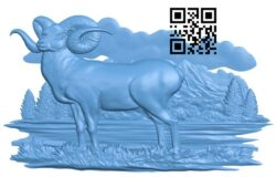 Painting picture of goat A005335 download free stl files 3d model for CNC wood carving