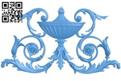 Pattern decor design A005277 download free stl files 3d model for CNC wood carving