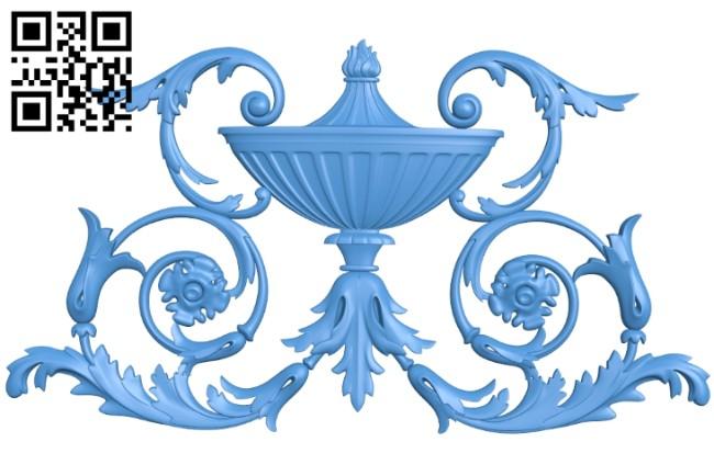 Pattern decor design A005277 download free stl files 3d model for CNC wood carving