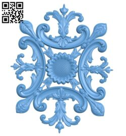 Pattern decor design A005349 download free stl files 3d model for CNC wood carving