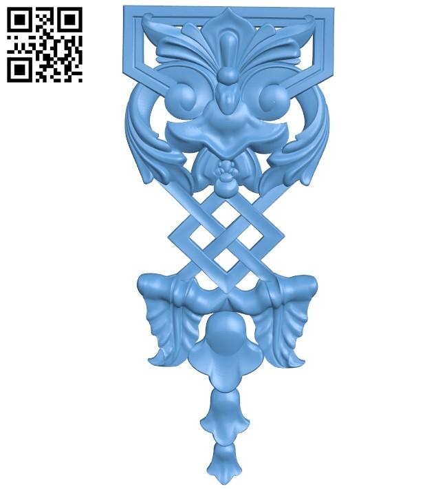 Pattern decor design A005371 download free stl files 3d model for CNC wood carving