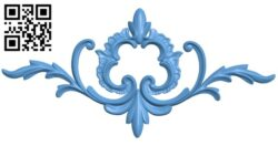Pattern decor design A005372 download free stl files 3d model for CNC wood carving