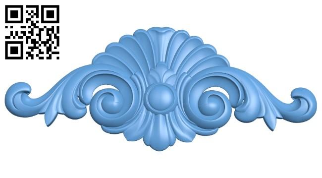 Pattern decor design A005391 download free stl files 3d model for CNC wood carving