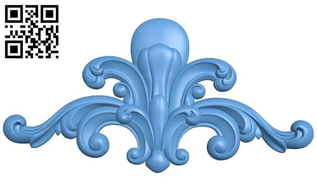 Pattern decor design A005393 download free stl files 3d model for CNC wood carving