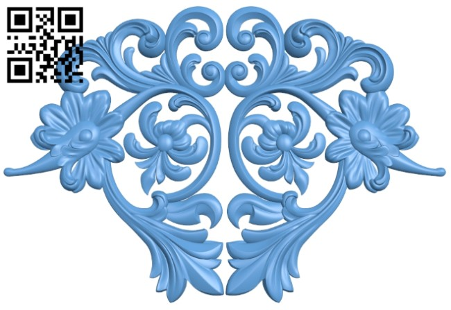 Pattern decor design A005394 download free stl files 3d model for CNC wood carving