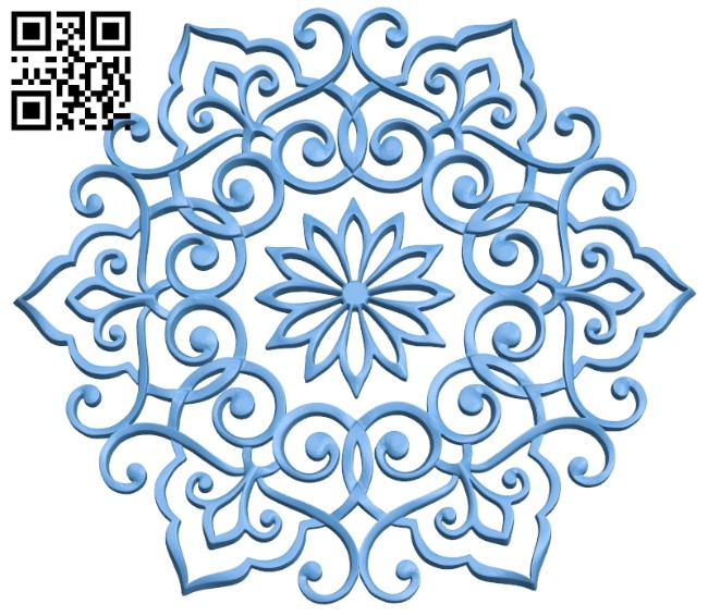 Pattern decor design A005422 download free stl files 3d model for CNC wood carving
