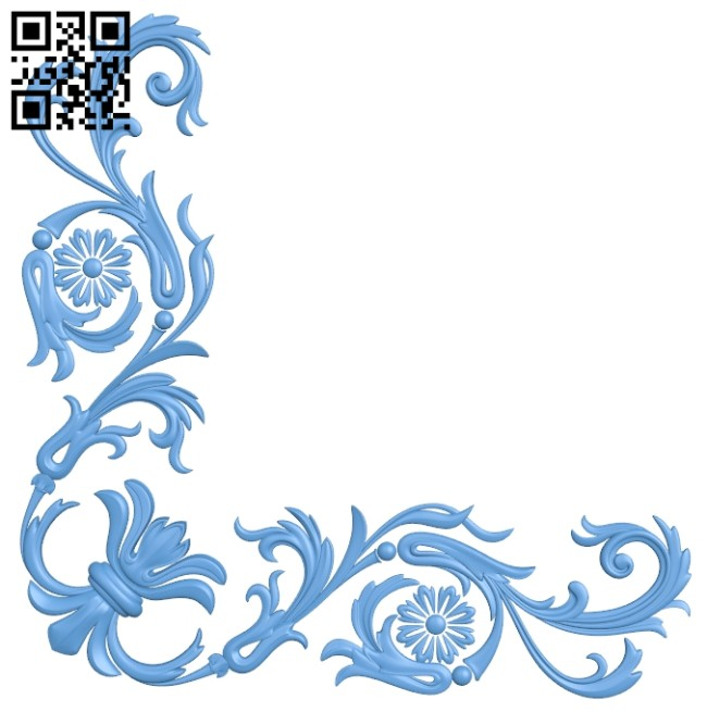 Pattern in the corner A005334 download free stl files 3d model for CNC wood carving