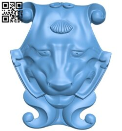 Pattern of decorative face A005420 download free stl files 3d model for CNC wood carving