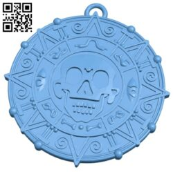 Pendant coin B008278 file stl free download 3D Model for CNC and 3d printer