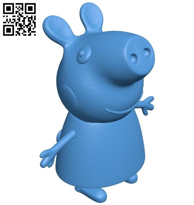 Peppa Pig B008071 file stl free download 3D Model for CNC and 3d printer