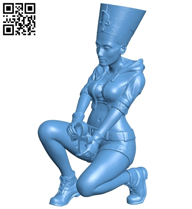 Pharaonic Female B008253 file stl free download 3D Model for CNC and 3d printer