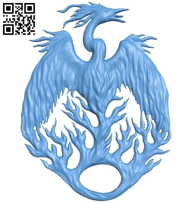 Phoenix pattern A005409 download free stl files 3d model for CNC wood carving