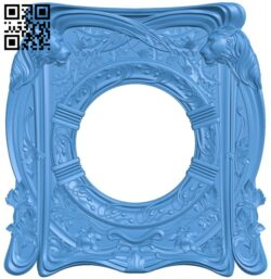 Picture frame or mirror A005243 download free stl files 3d model for CNC wood carving