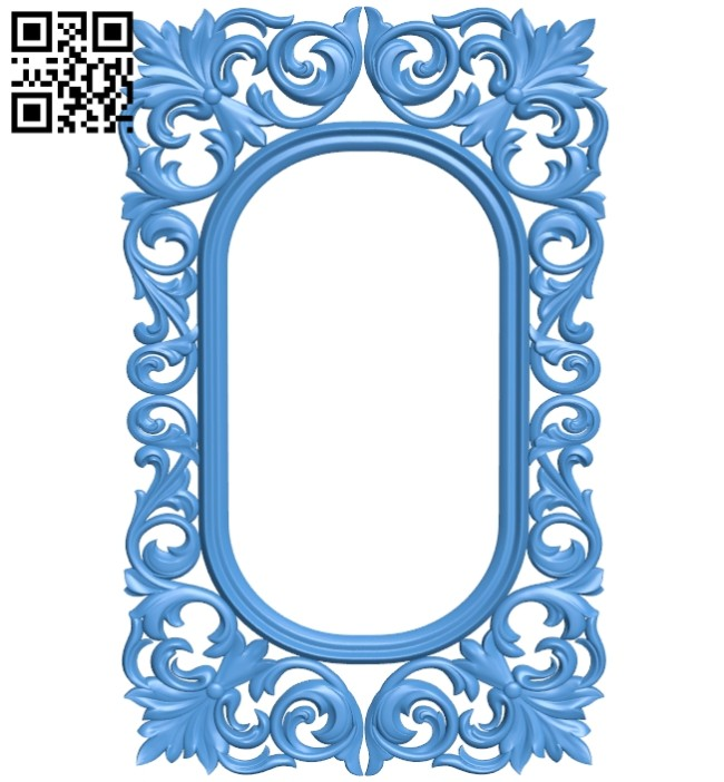 Picture frame or mirror A005244 download free stl files 3d model for CNC wood carving