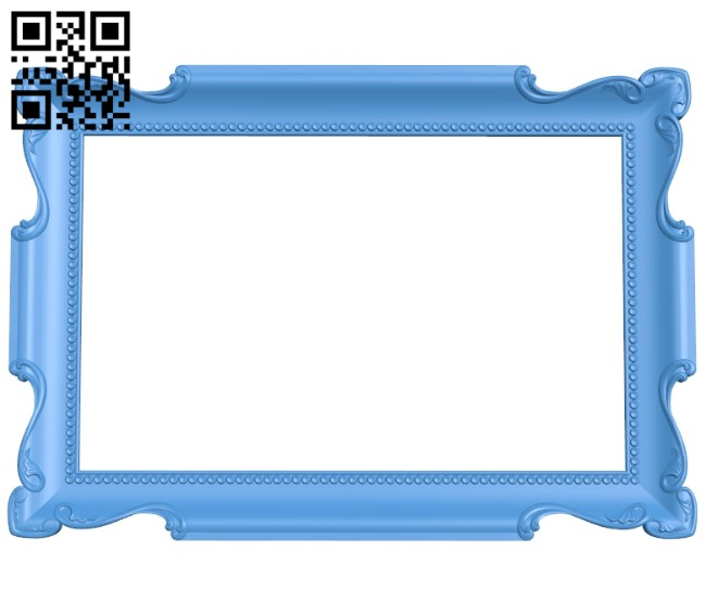 Picture frame or mirror A005245 download free stl files 3d model for CNC wood carving
