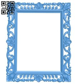 Picture frame or mirror A005279 download free stl files 3d model for CNC wood carving