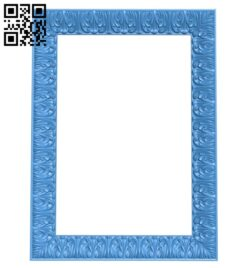 Picture frame or mirror A005280 download free stl files 3d model for CNC wood carving