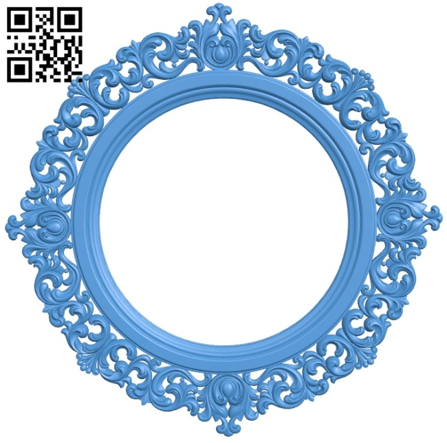 Picture frame or mirror A005281 download free stl files 3d model for CNC wood carving