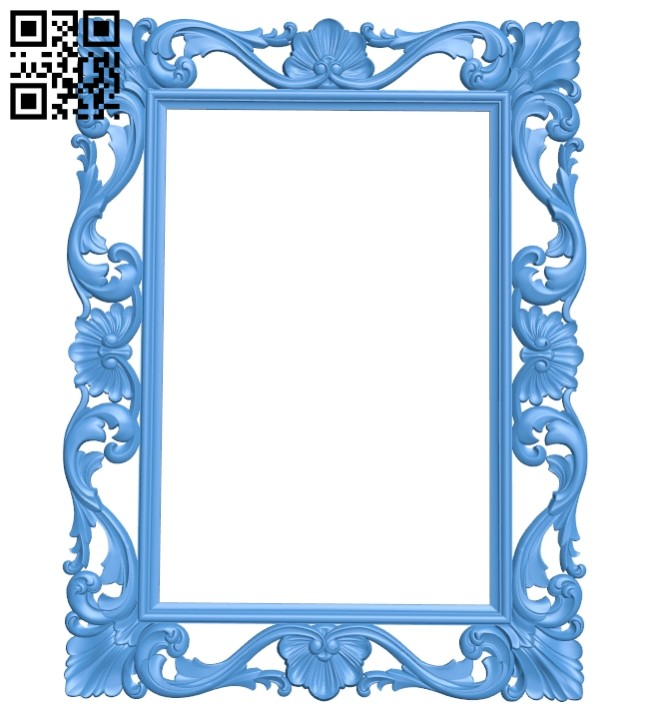 Picture frame or mirror A005282 download free stl files 3d model for CNC wood carving