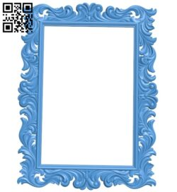 Picture frame or mirror A005286 download free stl files 3d model for CNC wood carving