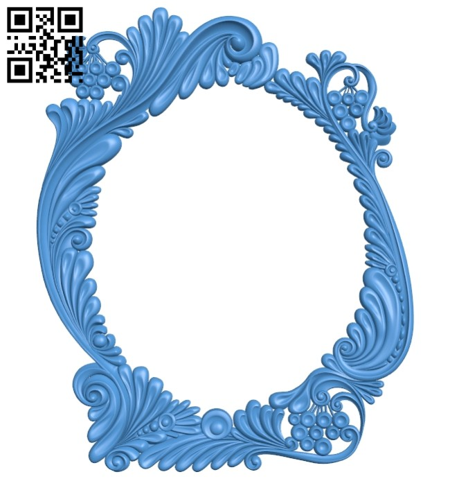 Picture frame or mirror A005288 download free stl files 3d model for CNC wood carving