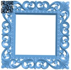 Picture frame or mirror A005297 download free stl files 3d model for CNC wood carving