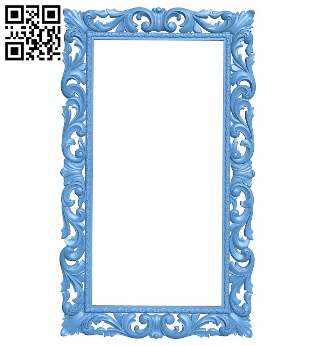 Picture frame or mirror A005298 download free stl files 3d model for CNC wood carving