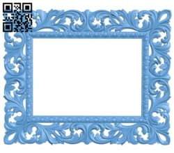 Picture frame or mirror A005299 download free stl files 3d model for CNC wood carving