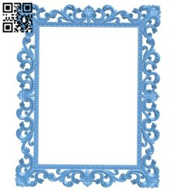 Picture frame or mirror A005318 download free stl files 3d model for CNC wood carving